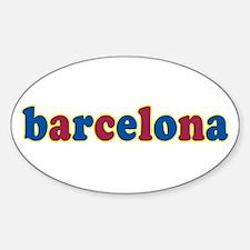 Barcelona Sticker (Oval)