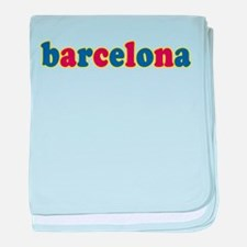 Barcelona baby blanket