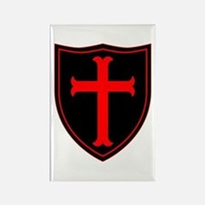 Crusaders Cross - ST-6 (1) Rectangle Magnet