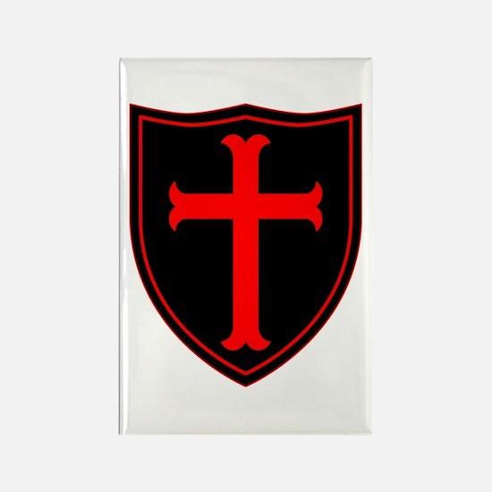 Crusaders Cross - ST-6 (1) Rectangle Magnet