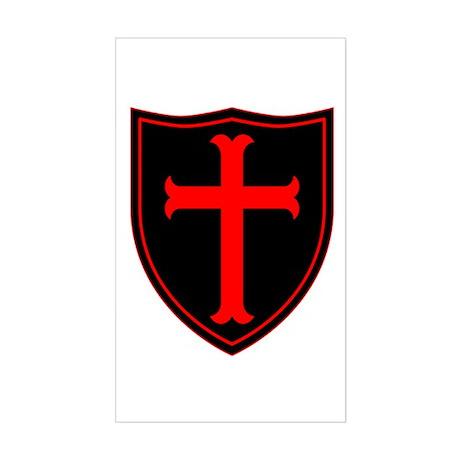 Crusaders Cross - ST-6 (1) Sticker (Rectangle)