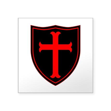 "Crusaders Cross - ST-6 (1) Square Sticker 3"" x 3"""