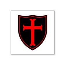 "Crusaders Cross - ST-6 (1) Square Sticker 3"" x 3"""