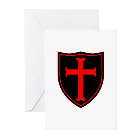Crusaders Cross - ST-6 (1) Greeting Cards (Pk of 1