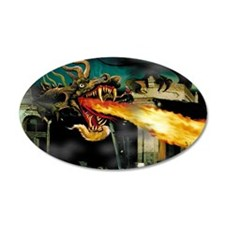 Barton the Mutant Dragon 22x14 Oval Wall Peel