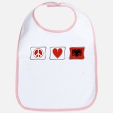 Peace, Love and Albania Bib