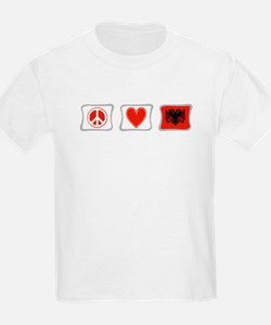 Peace, Love and Albania T-Shirt