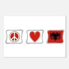 Peace, Love and Albania Postcards (Package of 8)
