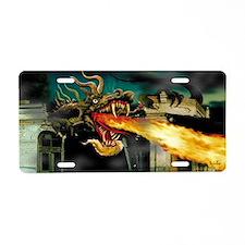 Barton the Mutant Dragon Aluminum License Plate