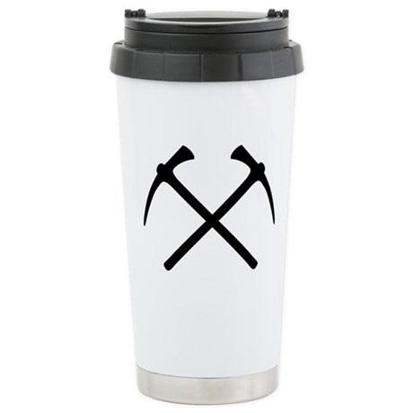 Picks crossed pickax Stainless Steel Travel Mug