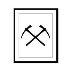 Picks crossed pickax Framed Panel Print