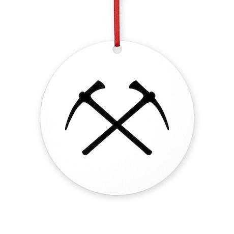 Picks crossed pickax Ornament (Round)