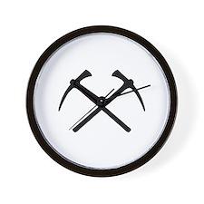 Picks crossed pickax Wall Clock