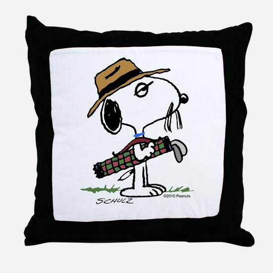 Spike, the Caddy Throw Pillow