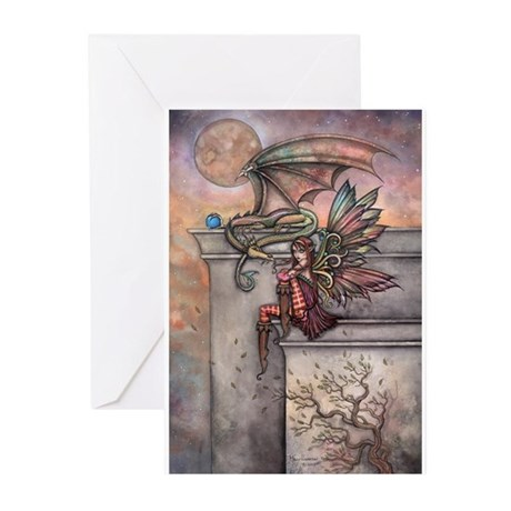The Enchanted Fairy and Dragon Greeting Cards (Pk