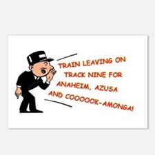 Train leaving on track 9... Postcards (Package of