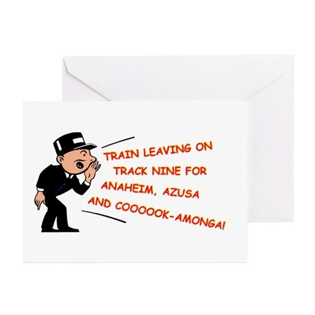 Train leaving on track 9... Greeting Cards (Pk of