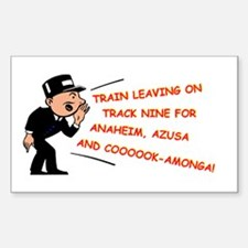 Train leaving on track 9... Sticker (Rectangle)