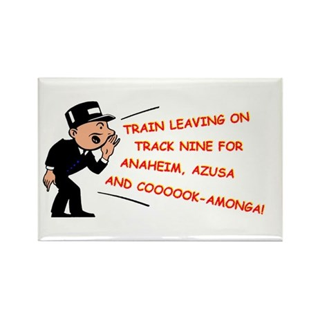 Train leaving on track 9... Rectangle Magnet (10 p