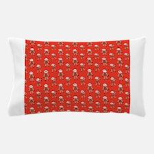 Sock Monkey Red Pillow Case