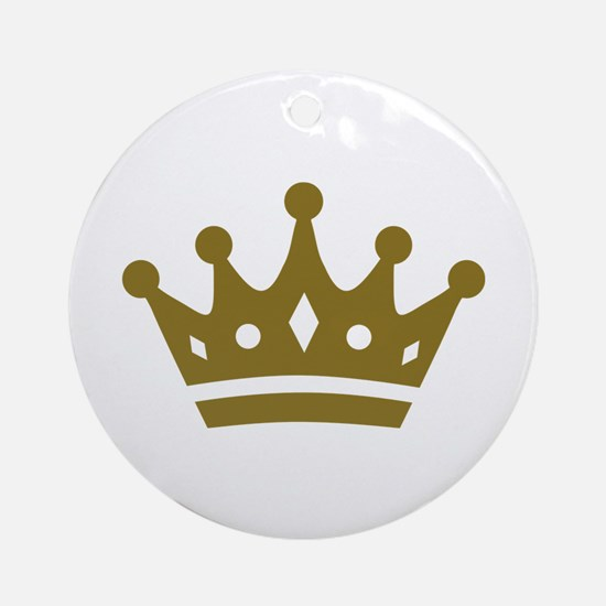 Golden crown Ornament (Round)