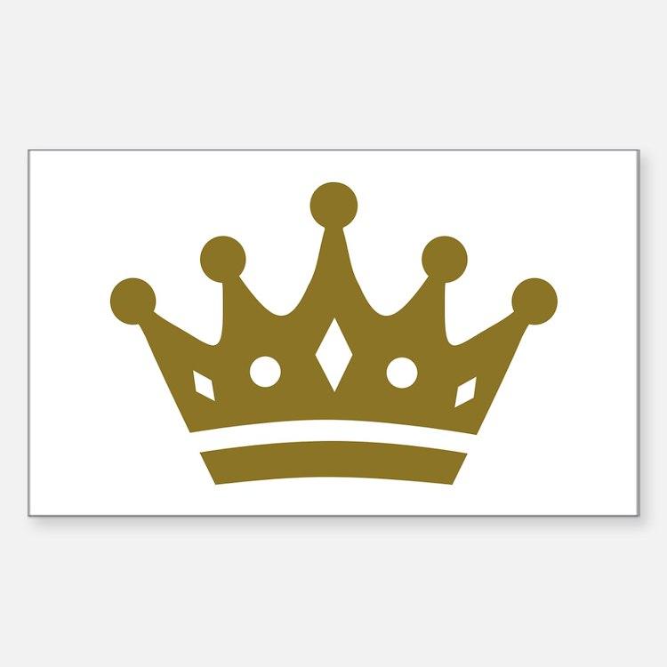 Golden crown Sticker (Rectangle)