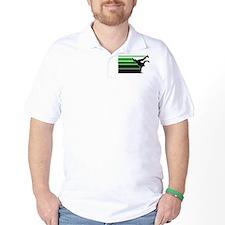 Break lines grn/blk T-Shirt