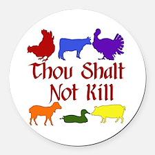 Thou Shalt Not Kill Round Car Magnet