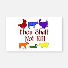 Thou Shalt Not Kill Rectangle Car Magnet