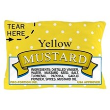 Mustard Packet Pillow Case