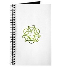 Cute Green bike Journal