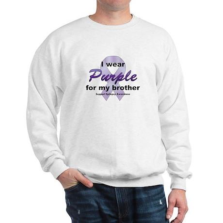 Purple for Brother Sweatshirt