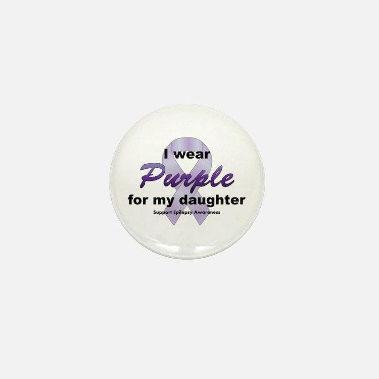 Purple for Daughter Mini Button