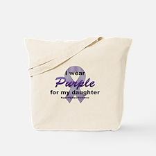 Purple for Daughter Tote Bag
