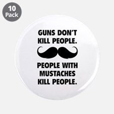 """Guns don't kill people 3.5"""" Button (10 pack)"""
