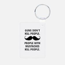 Guns don't kill people Aluminum Photo Keychain