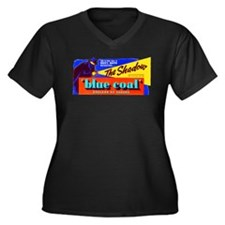 Shadow - Blue Coal #1 Women's Plus Size V-Neck Dar