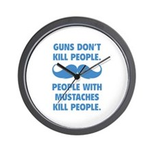 Guns don't kill people Wall Clock