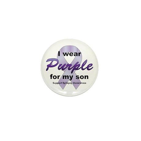 Purple for Son Mini Button