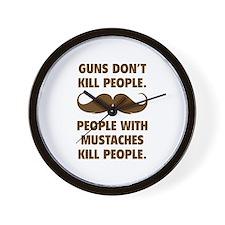 Guns don't kill people Wall Clock