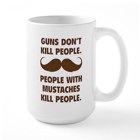 Guns don't kill people Large Mug