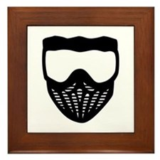 Paintball mask Framed Tile