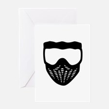 Paintball mask Greeting Card