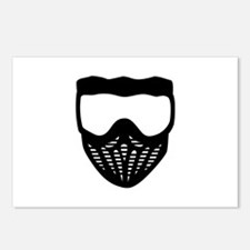 Paintball mask Postcards (Package of 8)