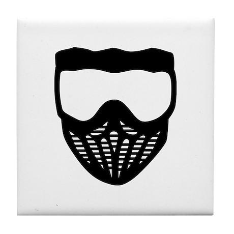 Paintball mask Tile Coaster