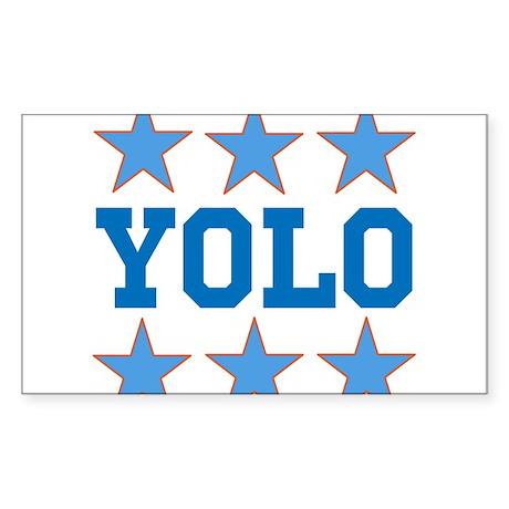 YOLO Sticker (Rectangle 50 pk)