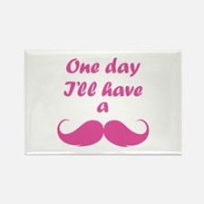 One Day I'll Have A Mustache Rectangle Magnet (10