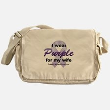 Purple for Wife Messenger Bag