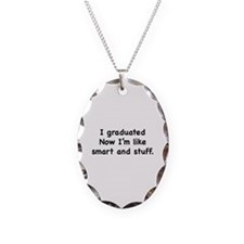 I Graduated Necklace Oval Charm