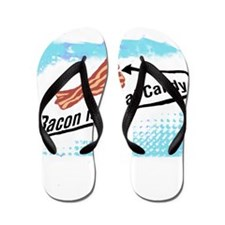 Bacon is Meat Candy 2 Flip Flops
